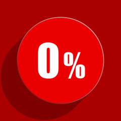 0 percent web flat icon