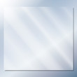transparent glass on a blue background vector - 64374429
