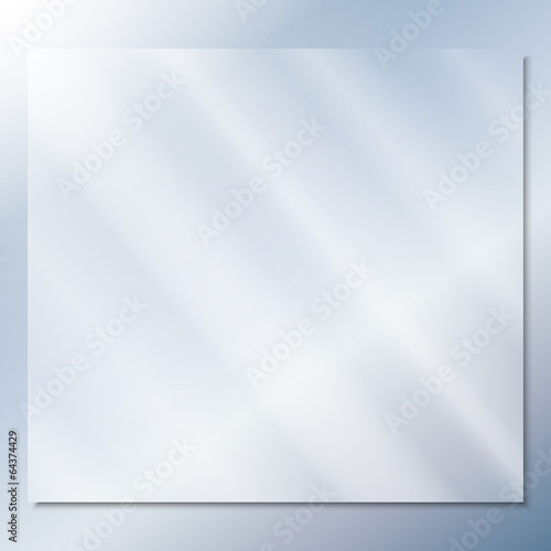 transparent glass on a blue background vector