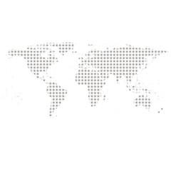 Gray World Map Vector