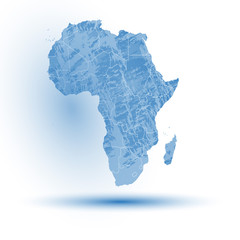 Africa map background vector