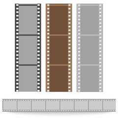 set of films pattern vector background