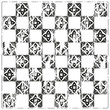 Chessboard ornate background vector