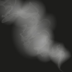 white smoke on a black background vector