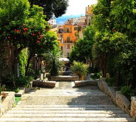 Taormina una scalinata