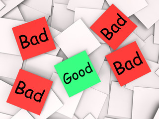 Good Bad Post-It Notes Mean Acceptable Or Unacceptable