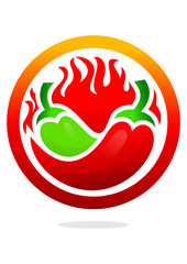 icon chili with circle