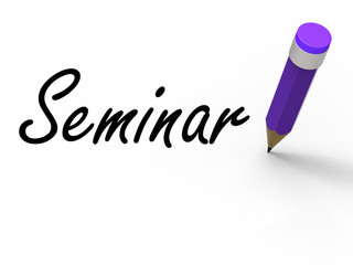 Seminar with Pencil Shows Written Appointment for a Business Con