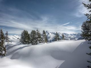 Winterlandschaft in Tirol in HDR
