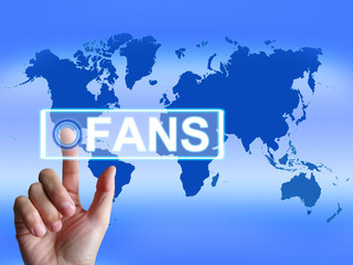 Fans Map Shows Worldwide or Internet Followers or Admirers