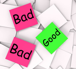 Good Bad Post-It Notes Show Satisfying Or Awful