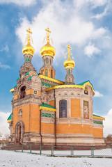 Die bekannte russische Kirche auf der Darmstädter Mathildenhöhe