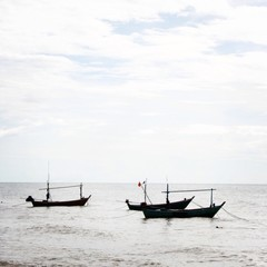 fishing boats on sea