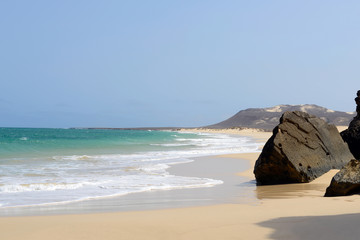 Varandinha Beach in Boa Vista, Cape Verde