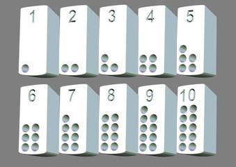 beyaz 3d rakam sütunları