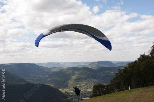 Taking off on Paragliding at Rio Grande do Sul, Brazil