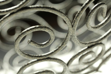 Abstract Metal Scrolls with Shadows