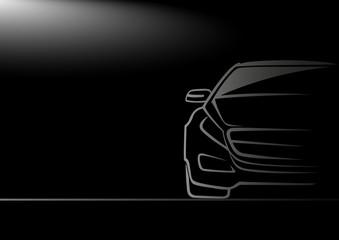 Karanlıktaki otomobil
