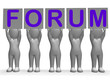 Forum Banners Means Online Conversations And Communications