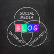 Blog Means Online Journal or Social Media in Internet Community