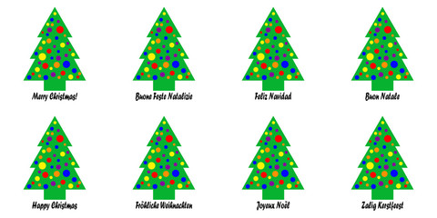 Christmas Tree Tags or Stickers