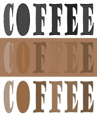 COFFEE TEXT SIGNS