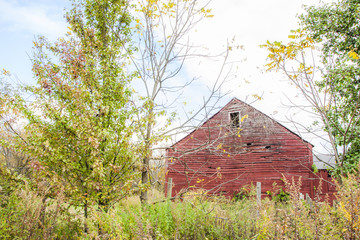 Deserted Red Barn