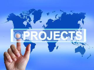 Projects Map Indicates International or Internet Task or Activit