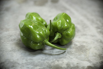 Green Habanero Peppers