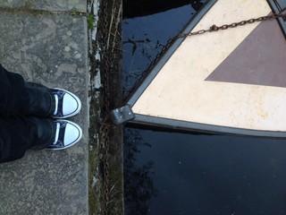 standing near boat