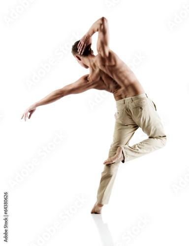 Aluminium Dans Caucasian male dancer