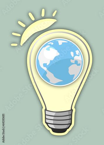 Bulb sun and world