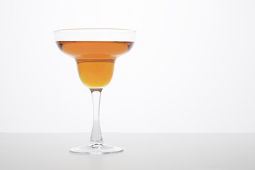Orange Colored Margarita - White Background