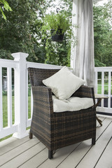 Outdoor Decor - Patio Chair with Pillows