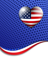LOVE AMERICA Stars Stripes American Background