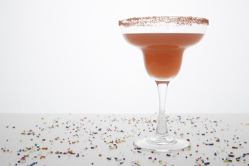 Red Margarita with Festive Sprinkles 2