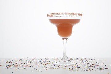 Red Margarita with Festive Sprinkles 4