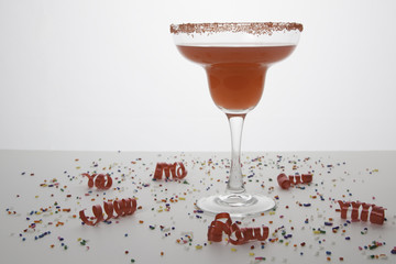 Red Margarita with Festive Sprinkles 5