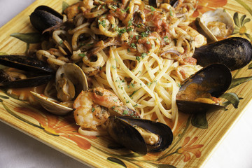 Seafood Fra Diavolo with Linguine
