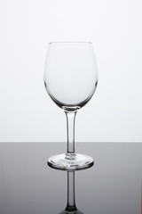 Simplicity - Empty White Wine Glass