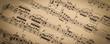 Leinwandbild Motiv Vintage Sheet Music