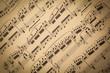 Leinwanddruck Bild - Vintage Sheet Music