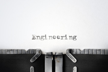 """Engineering"" written on an old typewriter"