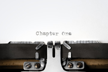 """Chapter One"" written on an old typewriter"
