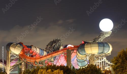 Papiers peints Attraction parc Yas Waterworld amusement park in Abu Dhabi, UAE