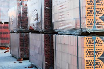 Stacks of silicate bricks