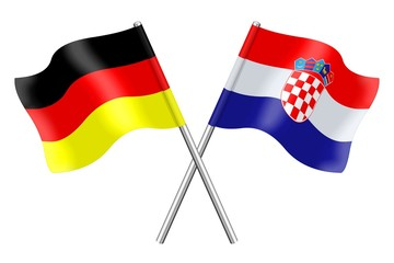 Flags : Croatia and Germany