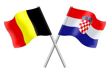 Flags : Croatia and Belgium