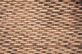 Fototapety wicker woven rattan pattern