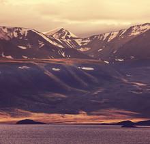 Lac en Mongolie